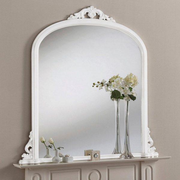 YG99 Overmantel mirror in White